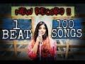 1 BEAT - 100 SONGS (New Record) FIRST FEMALE COVER - Srushti Barlewar