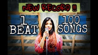 1 BEAT - 100 SONGS (New Record) FIRST FEMALE COVER - Srushti Barlewar