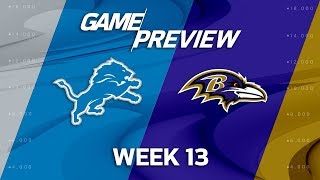 Detroit Lions vs. Baltimore Ravens   NFL Week 13 Game Preview   Move the Sticks