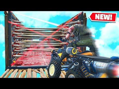 FORTNITE NEW QUADCRASHER DEATH RUN CHALLENGE Custom Playground Battle Royale