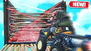 FORTNITE *NEW* QUADCRASHER DEATH RUN CHALLENGE! (Custom Playground Battle Royale)