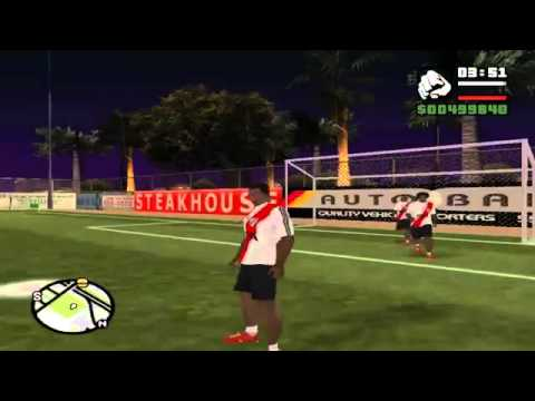 Loquendo Gta san andreas Jugando al futbol