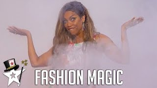 Tyra Banks Does A Quick Change! Sixto & Lucia on America