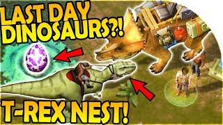 DINOSAURS in LAST DAY?! - T-REX NEST - LAST DAY ON EARTH SURVIVAL + DURANGO = JURASSIC SURVIVAL Game
