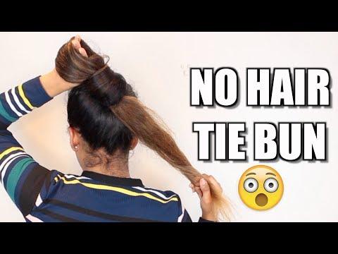 Xxx Mp4 3 NO Hair Tie Buns For Long Hair Hair Bun Tutorial 3gp Sex