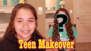 Makeover on 13 Year Old Teenager - makeup for young teen