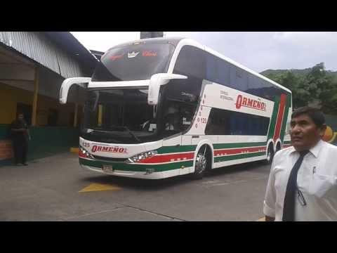 Expreso Internacional Ormeño 0125 saliendo de Caracas rumbo a Lima