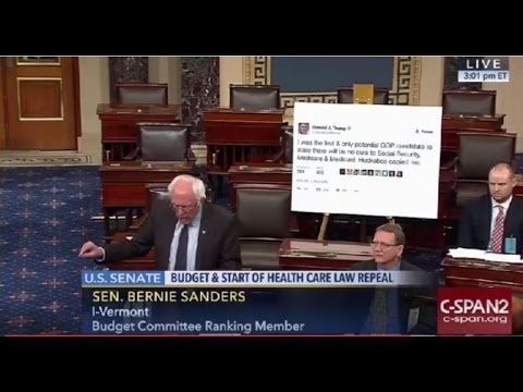 Bernie Sanders Trolls President Elect Trump on Senate Floor FULL Speech 1 4 17