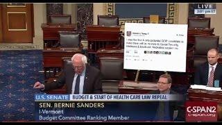 Bernie Sanders Trolls President-Elect Trump on Senate Floor FULL Speech 1/4/17