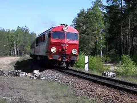 SU46 037 z pociągiem Zielona Góra Żagań