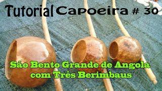 SÃO BENTO GRANDE DE ANGOLA COM 3 BERIMBAUS