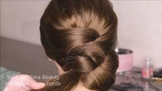 تسريحة للمناسبات سهلة جدا وجميلة easy and pretty hairstyles