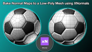 How to Bake Normal Maps to a Low-Poly Mesh using XNormals