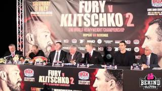 FURY-KLITSCHKO II PRESSER HIGHLIGHTS - WLAD TELLS FURY TO F*** OFF, FURY RESPONDS