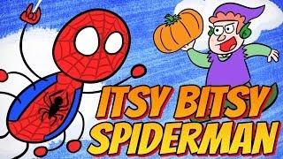 SUPERHERO NURSERY RHYMES - The Itsy Bitsy Spiderman!