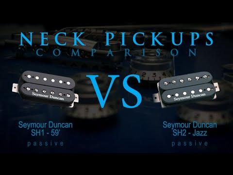 SEYMOUR DUNCAN SH1 / 59' vs SH2 JAZZ - Passive NECK Guitar Pickup Tone Comparison / Review