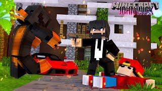 Minecraft  FORTNITE JOHN WICK THE KILLER???? - WHO SHOT DONUT & ROPO?
