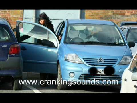 Woman trying to start her Citroen C3 - Pedal Pumping / Cranking