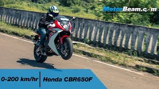 Honda CBR650F 0-200 km/hr & Top Speed | MotorBeam
