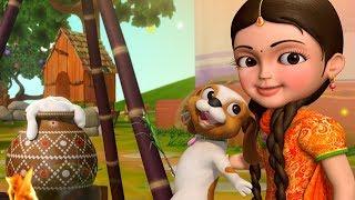 Sankranthi celebrations with Chinnu | Telugu Rhymes for Children | Infobells