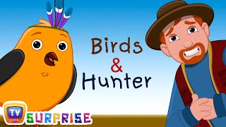 Bedtime Stories for Kids in English - Birds & Hunter - Surprise Eggs Toys ChuChu TV Story Time