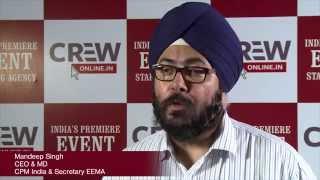 Mandeep Singh, Director - CPM India & Secretary - EEMA on Event Staffing