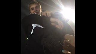 Smiling Justin Bieber singing Purpose at Krakow Purpose Tour - Poland, November 11, 2016