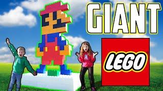 Building HUGE Lego Characters - World's BIGGEST LEGO MARIO! (LIFE SIZED)