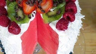 How to Make No-Bake Watermelon Cake   Just Add Sugar