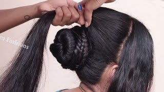High Puff Hairstyle 2019 for college/party/work | hair style girl | Easy Hairstyles 2019 for girls