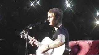 Justin Bieber - Cold Water + Love Yourself (acoustic) - Prague - 12.11.2016