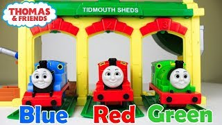THOMAS AND FRIENDS Learn Colors|Learning Colors Thomas and Friends Toy Trains for Children
