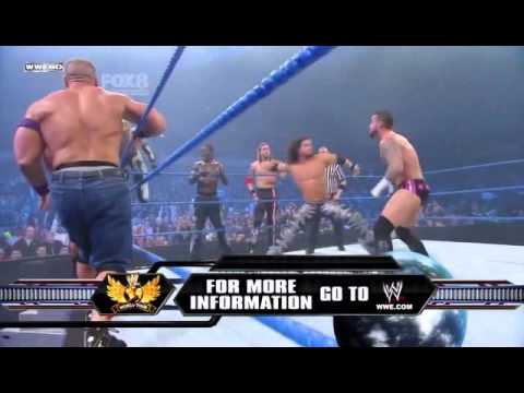 Smackdown 2 18 11 12 Man Tag Match Mysterio Cena&more vs King Sheamus Barret & Co HQ