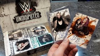 INSANE RARE PULLS TOPPS WWE UNDISPUTED 2018 BOX BREAK!!!