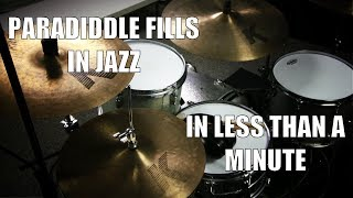 Paradiddle Fills in Jazz in less than a Minute - Daily Drum Lesson