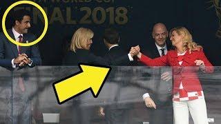 شاهد تصرف أمير قطر مع زوجة رئيس فرنسا الذي أثار الجدل 🤔