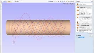 Rotary Machining Creating a Spiral Column