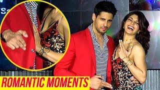 Sidharth Malhotra Jacqueline Fernandez ROMANTIC Moments In PUBLIC At Bandook Meri Laila Song Launch