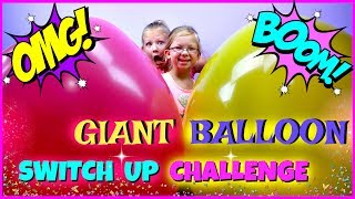 GIANT BALLOON SWITCH UP CHALLENGE - Magic Box Toys Collector