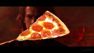 anakin and obi wan FIGHT but its over pizza and better than canon