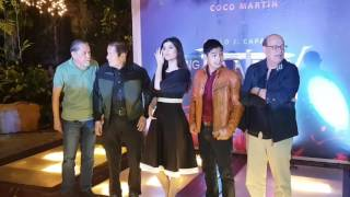 The cast of Carlo Caparas' ANG PANDAY starring and directed by Coco Martin