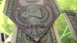 $1DOLLAR BILL SECRET Fazi-Gami Origami Yale SKULL &BONES 322 & $10,000 says UCant Prove Me Wrong
