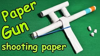 How to make a paper gun shoots / Weapon toy shooting paper