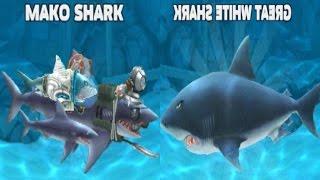 Hungry Shark Evolution, MAKO SHARK, GREAT WHITE SHARK/Gameplay make fun for kid #28