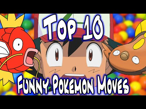 Top 10 Funny Pokemon Moves! | KangasCloud Top Tens | (#Pokemon20 Hype!)