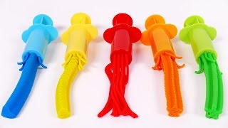 Play Doh Learn Colors with Play Dough Extruders Video For Children