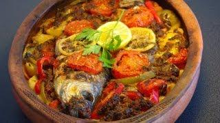 Recette marocaine de poisson au four         Moroccan baked fish recipe