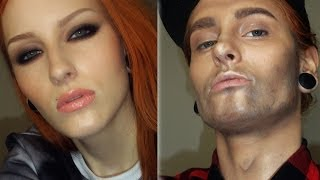 WOMAN TO A MAN MAKEUP TRANSFORMATION TUTORIAL / Female To Male Make-up