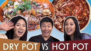 Spicy DRY POT vs HOT POT: Which is better?!