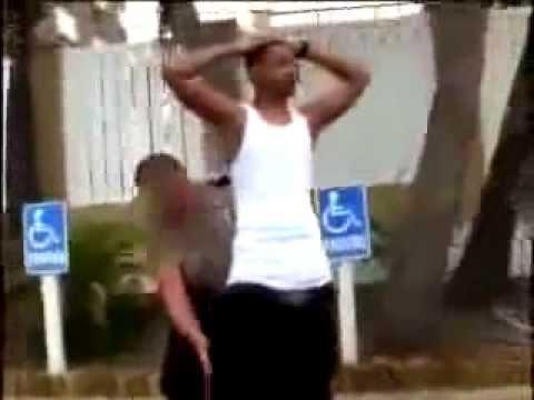 WHITE Cop Grabs BLACK  Mans Dick...GAY!